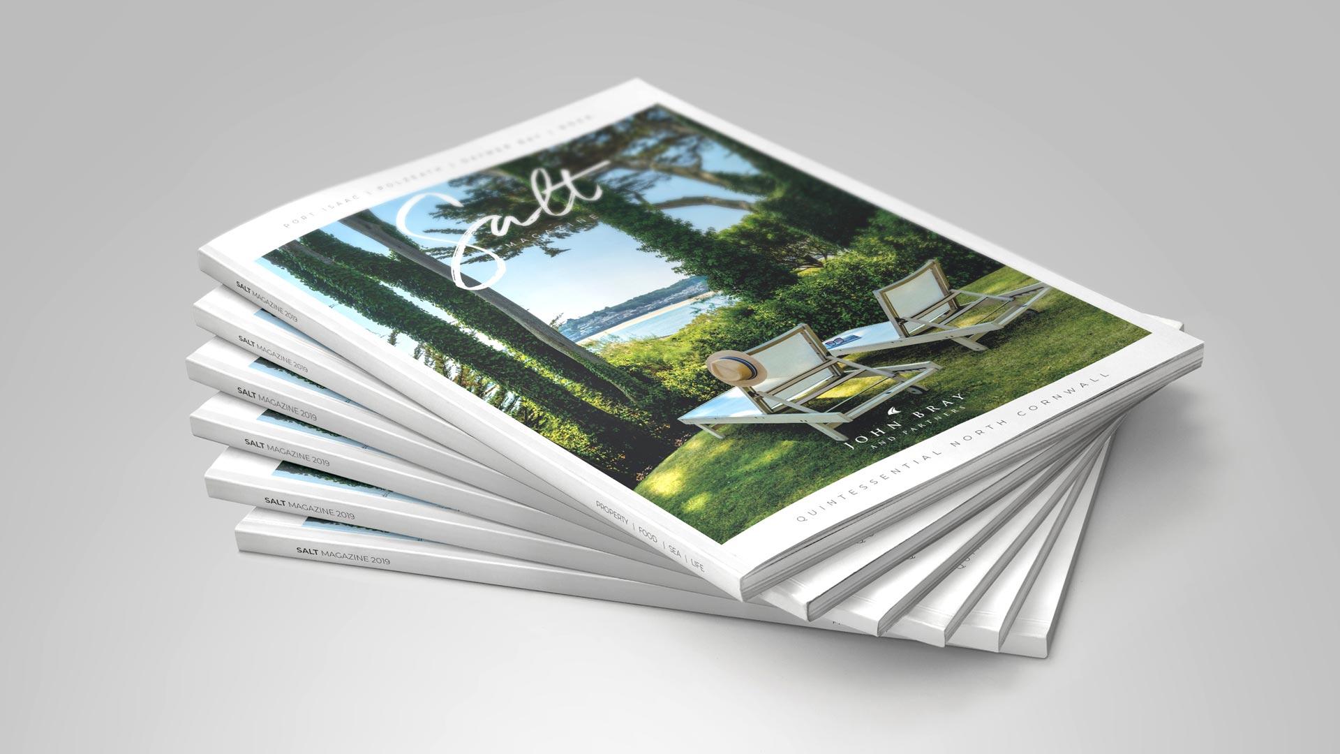 Salt Magazine design, estate agents, Cornwall