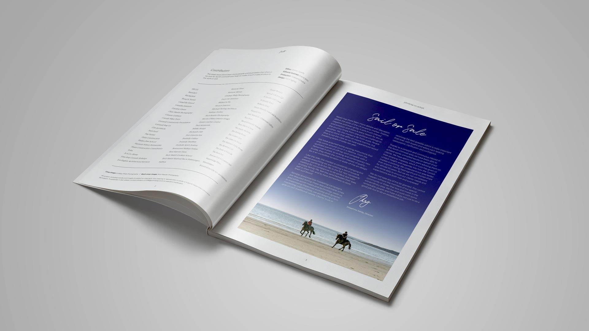 estate agents editorial design