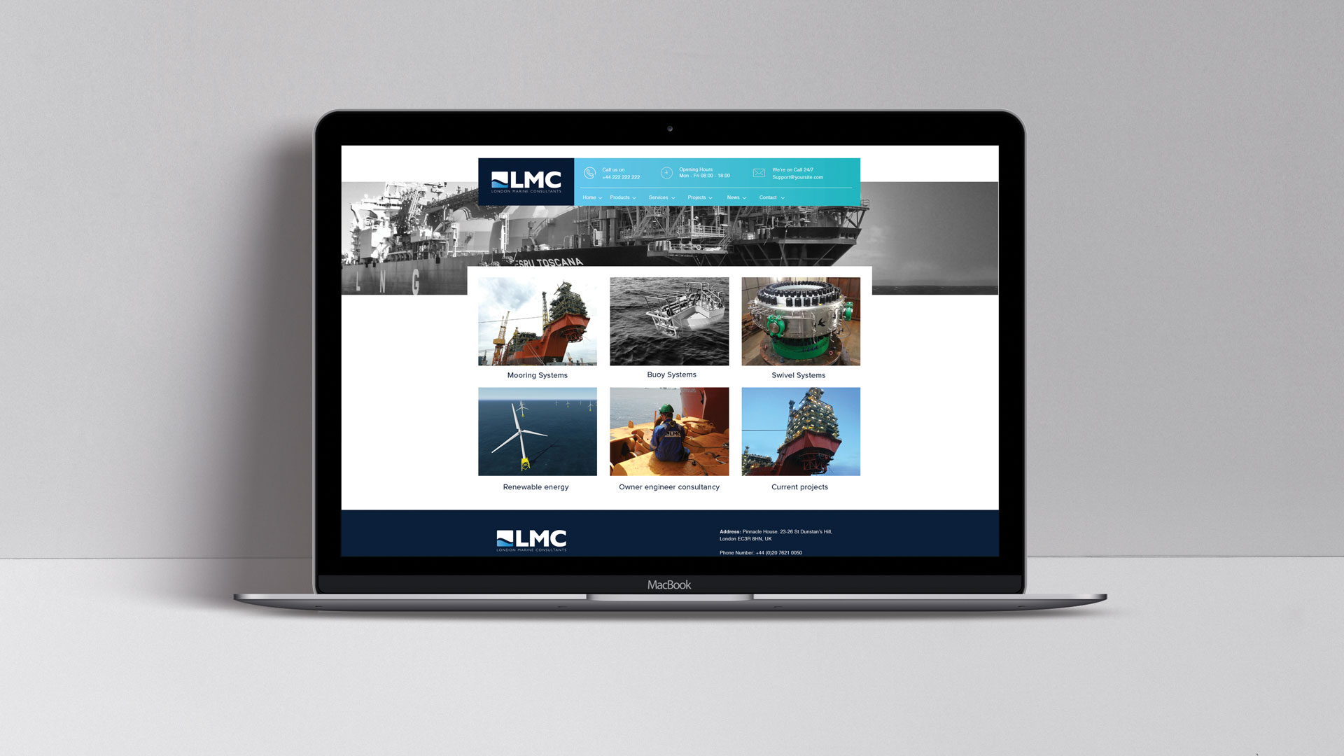 Website creation | London Marine Consultants | Creative design and marketing for the marine engineering industry