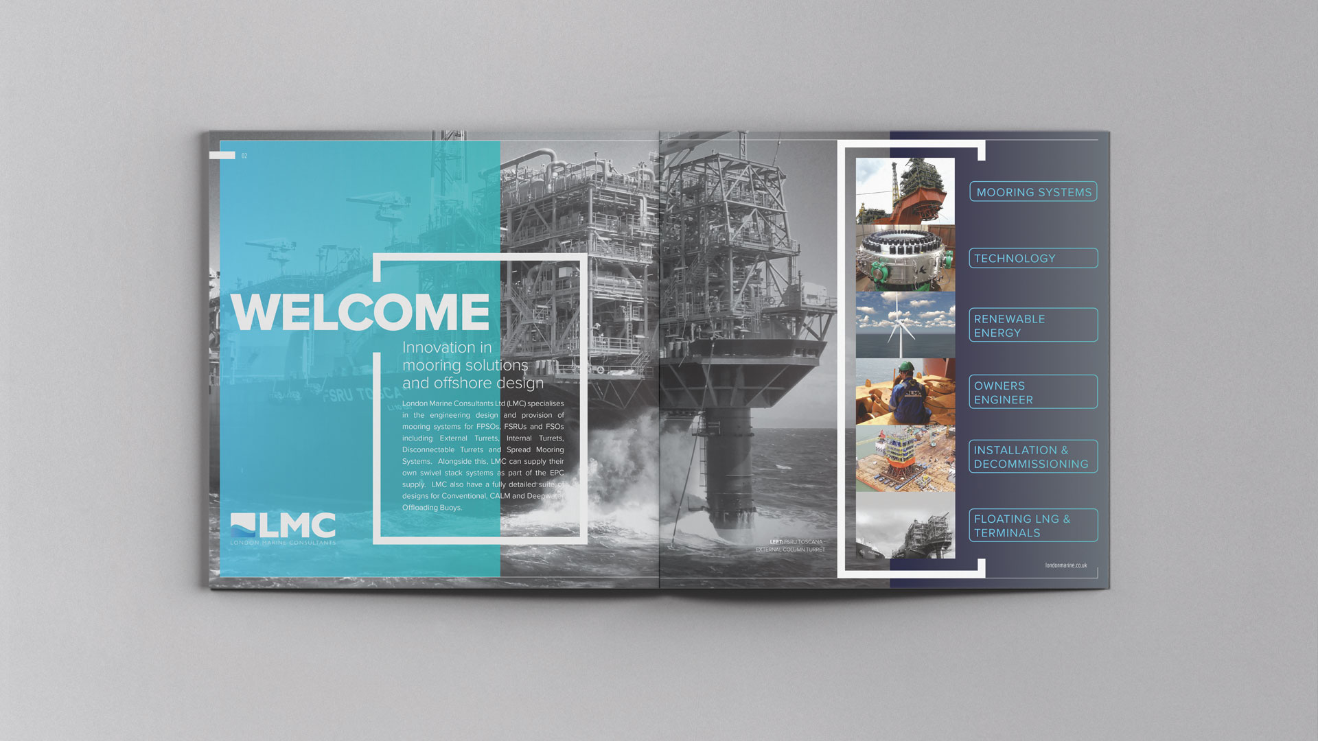 Brochure design | London Marine Consultants | Creative design and marketing for the offshore engineering industry